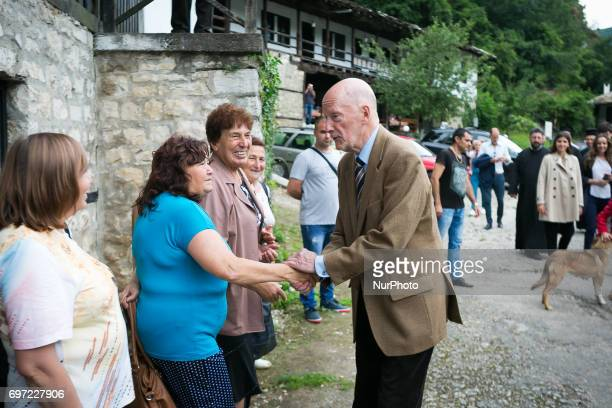 Simeon SaxeCoburgGotha on June 17th 2017 in Vratsa region Bulgaria for the his 80th Birthday