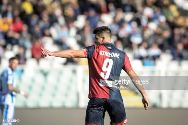 Simeone Giovanni during the Italian Serie A football match Pescara vs Genoa on February 19 in Pescara Italy