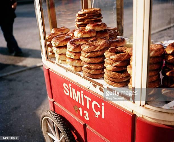 Simit Roll Street Vendor