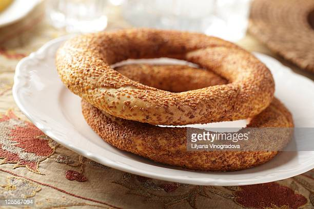 Simit, traditional Turkish pastry