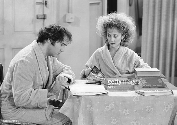 TAXI 'Simka's Monthlies' Episode 24 Aired 6/15/1983 Pictured Andy Kaufman as Latka Gravas Carol Kane as Simka DahblitzGravas Photo by NBCU Photo Bank