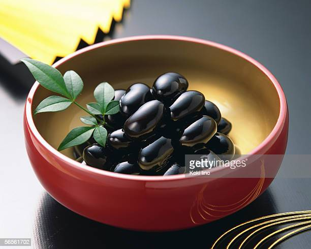 Simmered black beans
