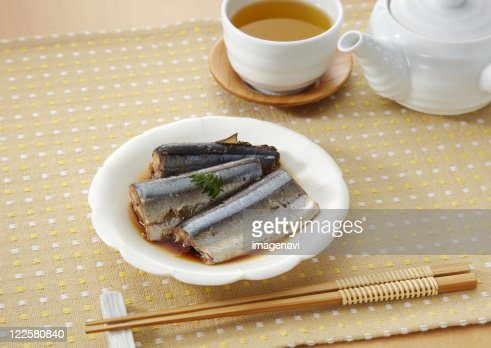 Simmered saury : Stock Photo