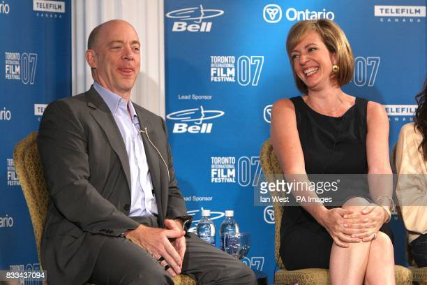 JK Simmons and Allison Janney during the 32nd Annual Toronto International Film Festival 'Juno' Press Conference at Sutton Place Hotel
