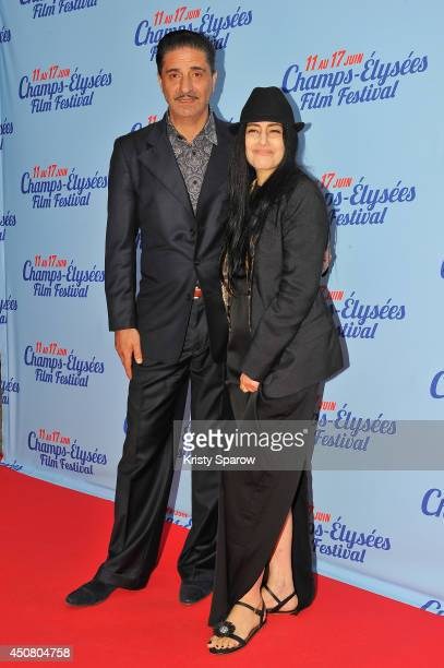 Simon Abkarian and Ronit Elkabetz attend Day 6 of the Champs Elysees Film Festival on June 17 2014 in Paris France