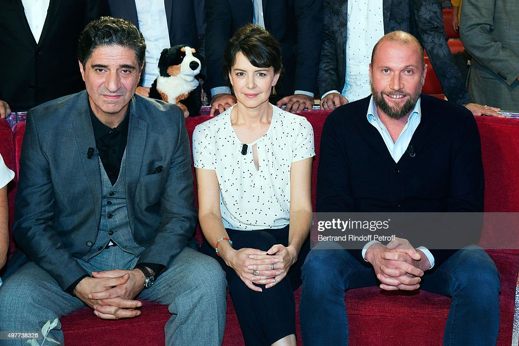 <a gi-track='captionPersonalityLinkClicked' href=/galleries/search?phrase=Simon+Abkarian&family=editorial&specificpeople=2213759 ng-click='$event.stopPropagation()'>Simon Abkarian</a>; Constance Dolle and Francois Damiens attend 'Vivement Dimanche' TV Show at Pavillon Gabriel on November 18, 2015 in Paris, France.