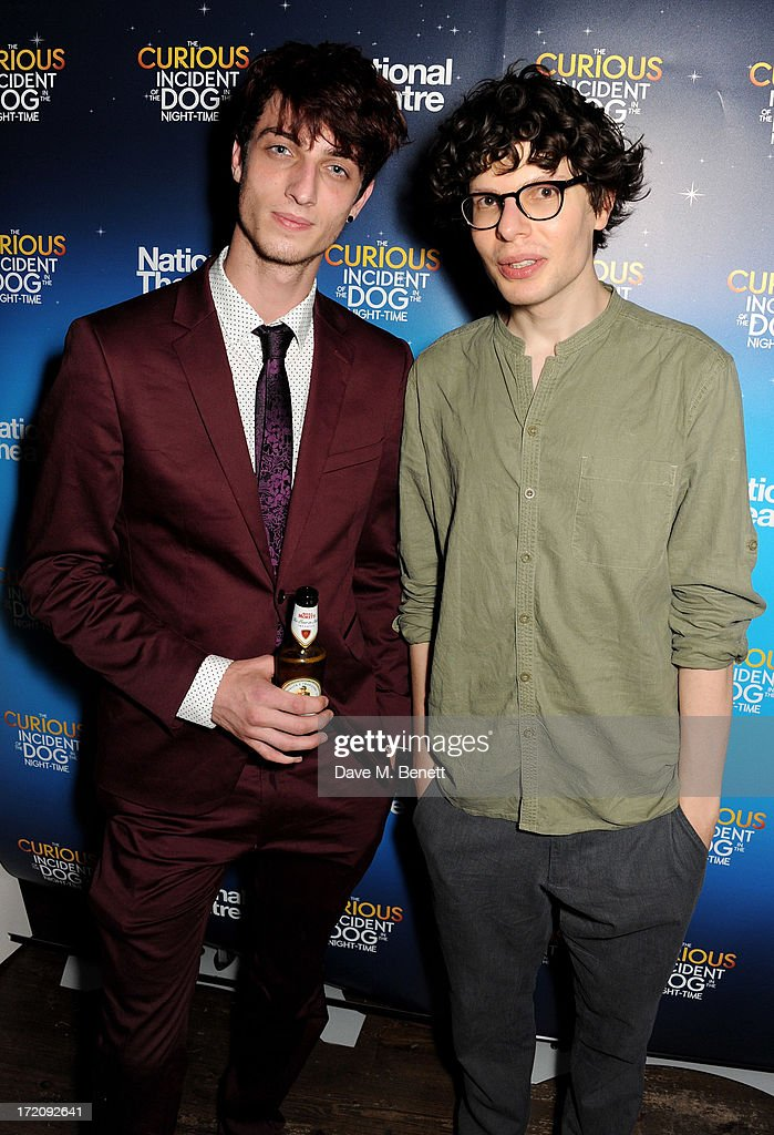 Simon Amstell (R) attends an after party following 'A Curious Night at the Theatre', a charity gala evening to raise funds for Ambitious about Autism and The National Autistic Society, at Century Club on July 1, 2013 in London, England.