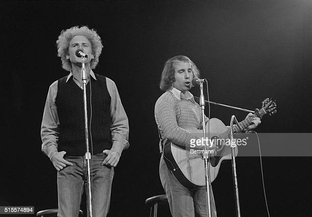 Simon and Garfunkel perform in public together again at a Madison Square Garden concert held to raise campaign funds for Sen George McGovern...
