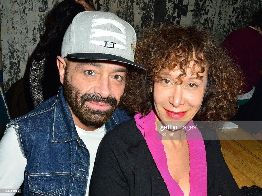 Simon Azoulay and Olivia Portaud attend 'La Dance des Coincidences' Party At The Favella Chic on March15, 2013 in Paris, France.