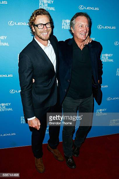 Simon Baker and Bryan Brown arrive ahead of the Sydney Film Festival Opening Night Gala at State Theatre on June 8 2016 in Sydney Australia