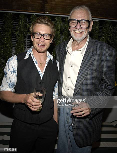 Simon Baker and George A Romero during 2005 Cannes Fiilm Festival AnheuserBusch Hosts 'Land of the Dead' Party at AnheuserBusch Big Eagle Yacht in...