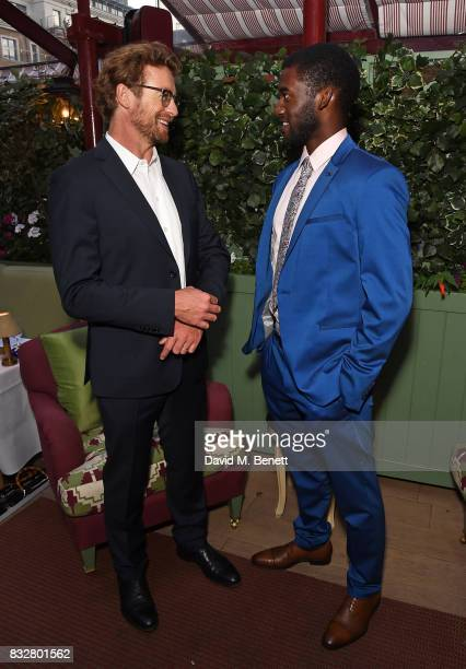 Simon Baker and Malachi Kirby attend a VIP Dinner with Longines and Simon Baker to celebrate the Commonwealth Baton arriving in London at Marks Club...