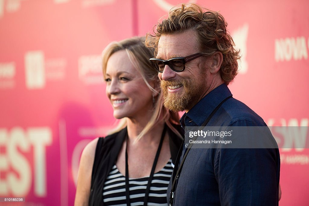 <a gi-track='captionPersonalityLinkClicked' href=/galleries/search?phrase=Simon+Baker&family=editorial&specificpeople=206176 ng-click='$event.stopPropagation()'>Simon Baker</a> and <a gi-track='captionPersonalityLinkClicked' href=/galleries/search?phrase=Rebecca+Gibney&family=editorial&specificpeople=224596 ng-click='$event.stopPropagation()'>Rebecca Gibney</a> pose on the red carpet at Tropfest at Centennial Park on February 14, 2016 in Sydney, Australia.