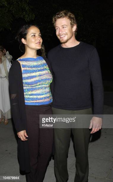 Simon Baker and wife Rebecca Rigg during 2002 Tribeca Film Festival Vanity Fair Party at The State Supreme Courthouse in New York City New York...