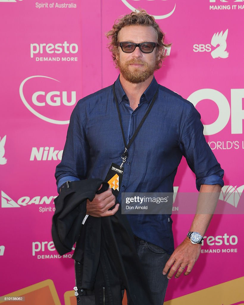 <a gi-track='captionPersonalityLinkClicked' href=/galleries/search?phrase=Simon+Baker&family=editorial&specificpeople=206176 ng-click='$event.stopPropagation()'>Simon Baker</a> arrives ahead of Tropfest 2016 at Centennial Park on February 14, 2016 in Sydney, Australia.