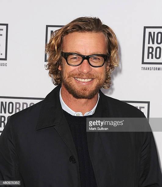 Simon Baker arrives at Art of Music Live at Sydney Opera House on July 16 2015 in Sydney Australia