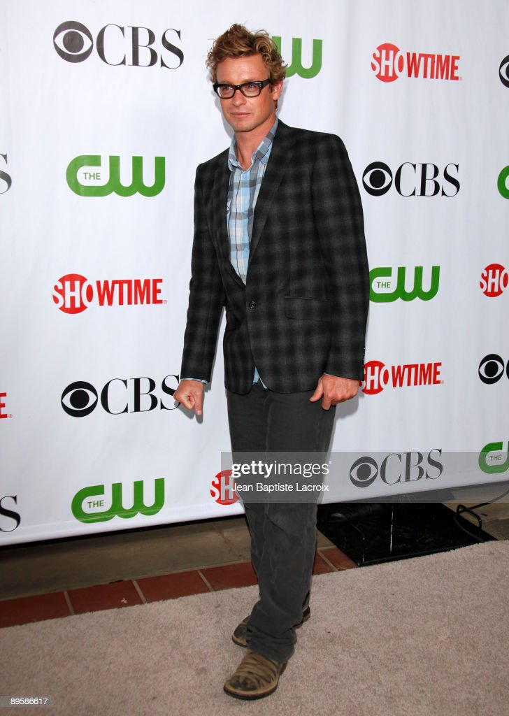 Simon Baker arrives at the 2009 TCA Summer Tour - CBS, CW and Showtime All-Star Party at the Huntington Library on August 3, 2009 in Pasadena, California.
