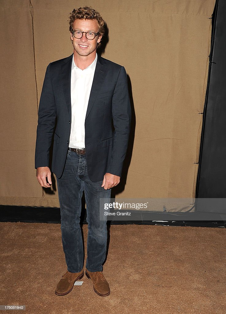 Simon Baker arrives at the Television Critic Association's Summer Press Tour - CBS/CW/Showtime Party at 9900 Wilshire Blvd on July 29, 2013 in Beverly Hills, California.