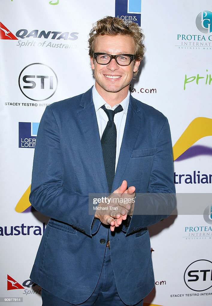 <a gi-track='captionPersonalityLinkClicked' href=/galleries/search?phrase=Simon+Baker&family=editorial&specificpeople=206176 ng-click='$event.stopPropagation()'>Simon Baker</a> arrives to the Australian's In Film - 2nd Annual Party held at Australian Consular General's Residence on September 19, 2009 in Brentwood, California.