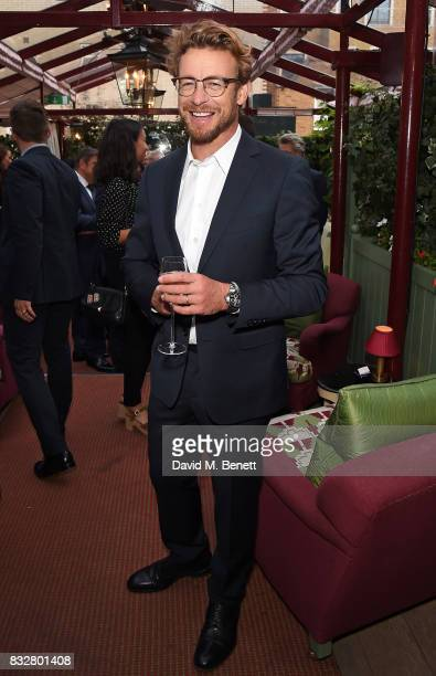 Simon Baker attends a VIP Dinner with Longines and Simon Baker to celebrate the Commonwealth Baton arriving in London at Marks Club on August 16 2017...