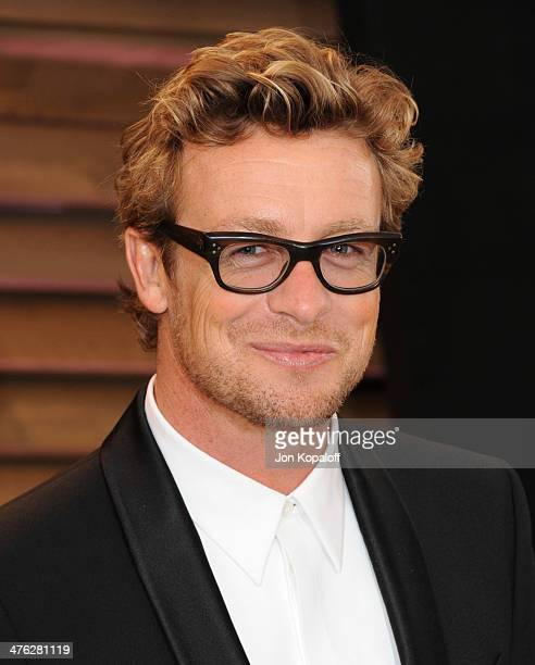 Simon Baker attends the 2014 Vanity Fair Oscar Party hosted by Graydon Carter on March 2 2014 in West Hollywood California