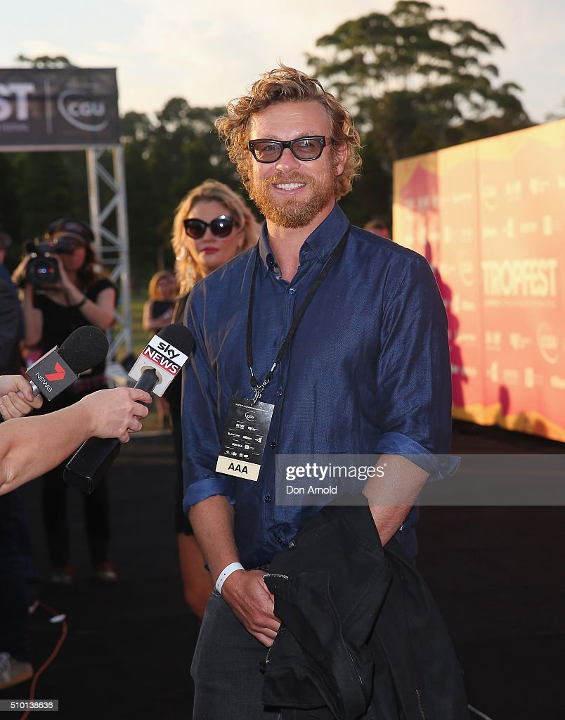 Simon Baker is interviewed ahead of Tropfest 2016 at Centennial Park on February 14, 2016 in Sydney, Australia.