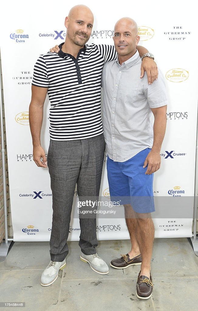 Simon Benstead and Ross Graham attend the Hamptons Magazine Celebrates With Cover Stars, Jonathan Adler And Simon Doonan at Day Lily Estate on August 3, 2013 in Bridgehampton, New York.