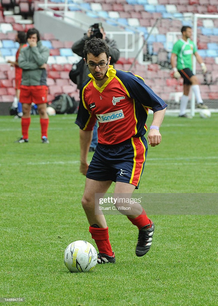 <a gi-track='captionPersonalityLinkClicked' href=/galleries/search?phrase=Simon+Bird&family=editorial&specificpeople=4877799 ng-click='$event.stopPropagation()'>Simon Bird</a> attends the Celebrity Soccer Six 2012 Tournament at Upton Park on May 20, 2012 in London, England.