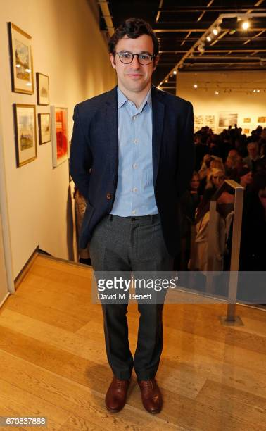 Simon Bird attends the press night after party for 'The Philanthropist' at the Mall Galleries on April 20 2017 in London England