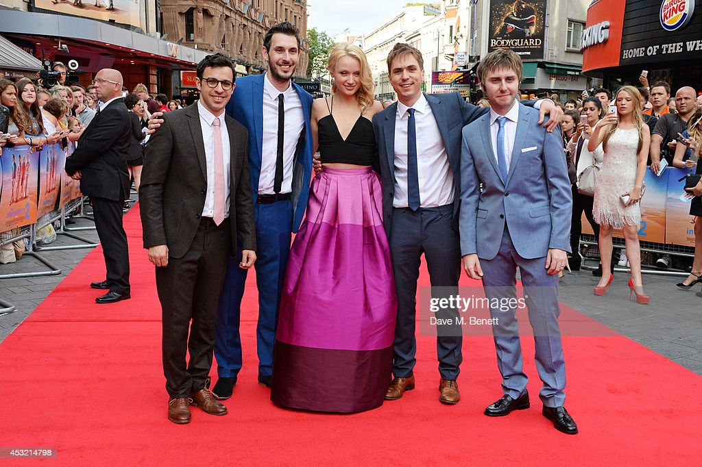 <a gi-track='captionPersonalityLinkClicked' href=/galleries/search?phrase=Simon+Bird&family=editorial&specificpeople=4877799 ng-click='$event.stopPropagation()'>Simon Bird</a>, <a gi-track='captionPersonalityLinkClicked' href=/galleries/search?phrase=Blake+Harrison&family=editorial&specificpeople=5800049 ng-click='$event.stopPropagation()'>Blake Harrison</a>, <a gi-track='captionPersonalityLinkClicked' href=/galleries/search?phrase=Emily+Berrington&family=editorial&specificpeople=12555620 ng-click='$event.stopPropagation()'>Emily Berrington</a>, Joe Thomas and James Buckley attend the World Premiere of 'The Inbetweeners 2' at Vue West End on August 5, 2014 in London, England.