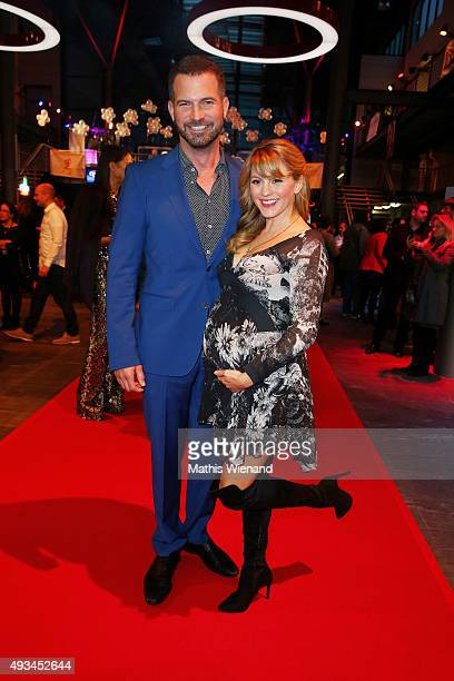 Simon Boeer and Luise Baehr attend the 19th Annual German Comedy Awards at Coloneum on October 20 2015 in Cologne Germany