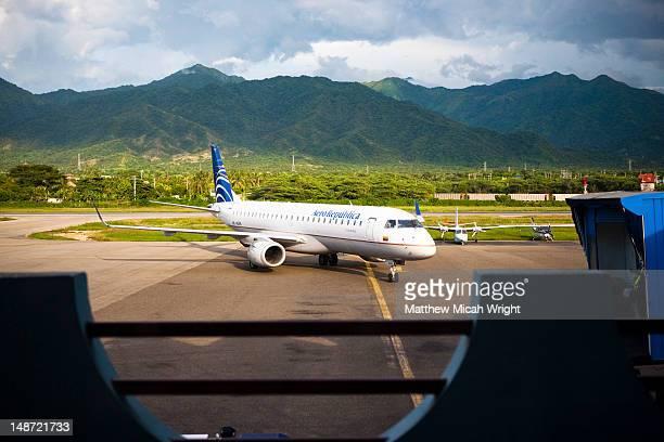 Simon Bolivar airport.