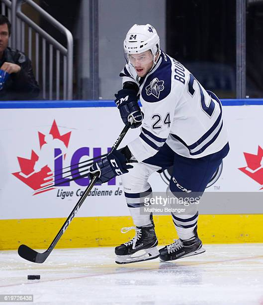 Simon Bourque of the Rimouski Oceanic skates against the Quebec Remparts during their QMJHL hockey game at the Centre Videotron on October 28 2016 in...