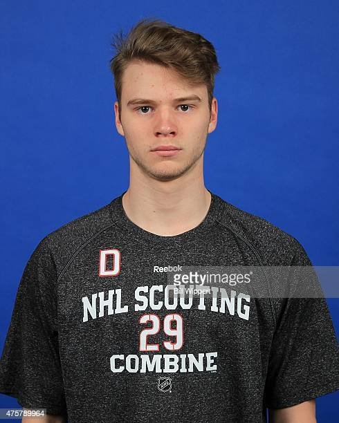 Simon Bourque poses for a headshot at the NHL Combine at HarborCenter on June 3 2015 in Buffalo New York