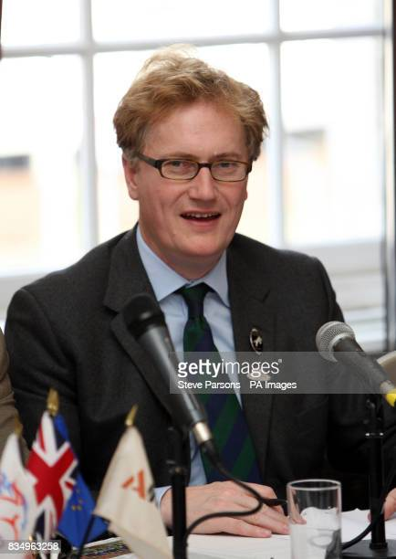 Simon BrooksWard from H power group speaks at a press Conference held at Olympia International Horse Show being held at the Olympia Exhibition Centre...