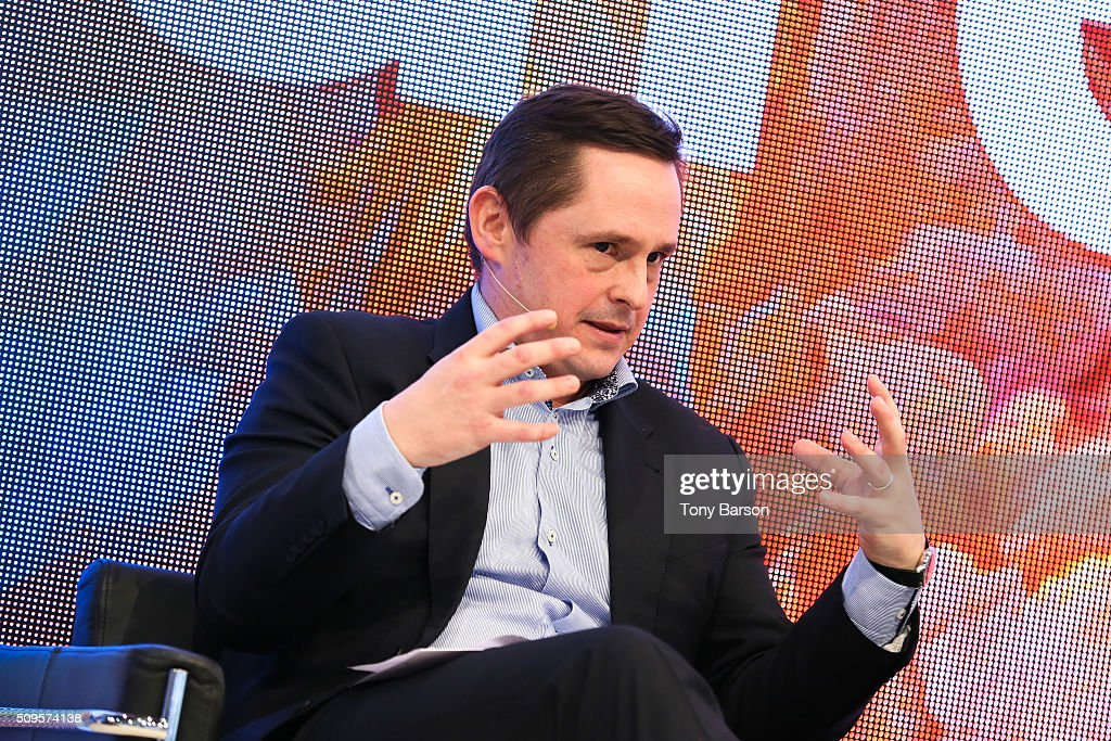 Simon Bryant (Futuresource) attends Samsung: Inside The Future Of Television Panel at the Grimaldi Forum on February 11, 2016 in Monte-Carlo, Monaco.