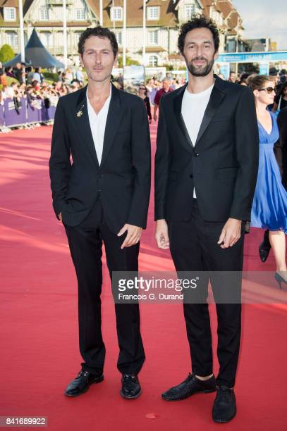 Simon Buret and Olivier Coursier arrive at the opening ceremony of the 43rd Deauville American Film Festival on September 1 2017 in Deauville France