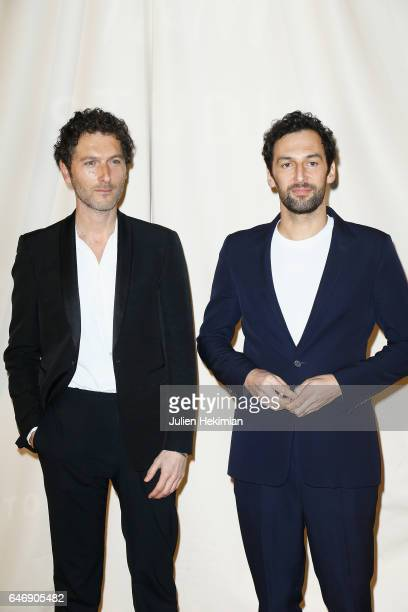 Simon Buret and Olivier Coursier attend the HM Studio show as part of the Paris Fashion Week on March 1 2017 in Paris France