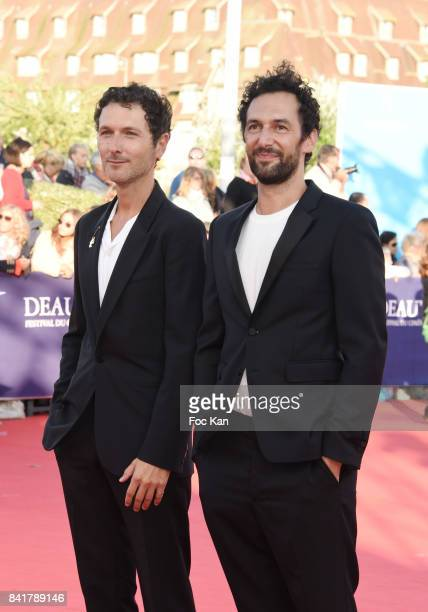 Simon Buret and Olivier Coursier from AaRON band attend the opening ceremony of the 43rd Deauville American Film Festival on September 1 2017 in...