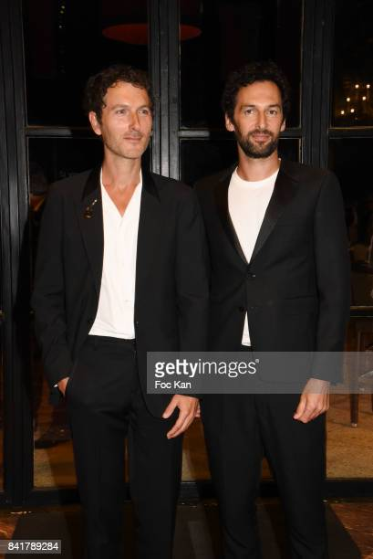 Simon Buret and Olivier Coursier from AaRON band attend the Opening ceremony Dinner of the 43rd Deauville American Film Festival at Casino on...