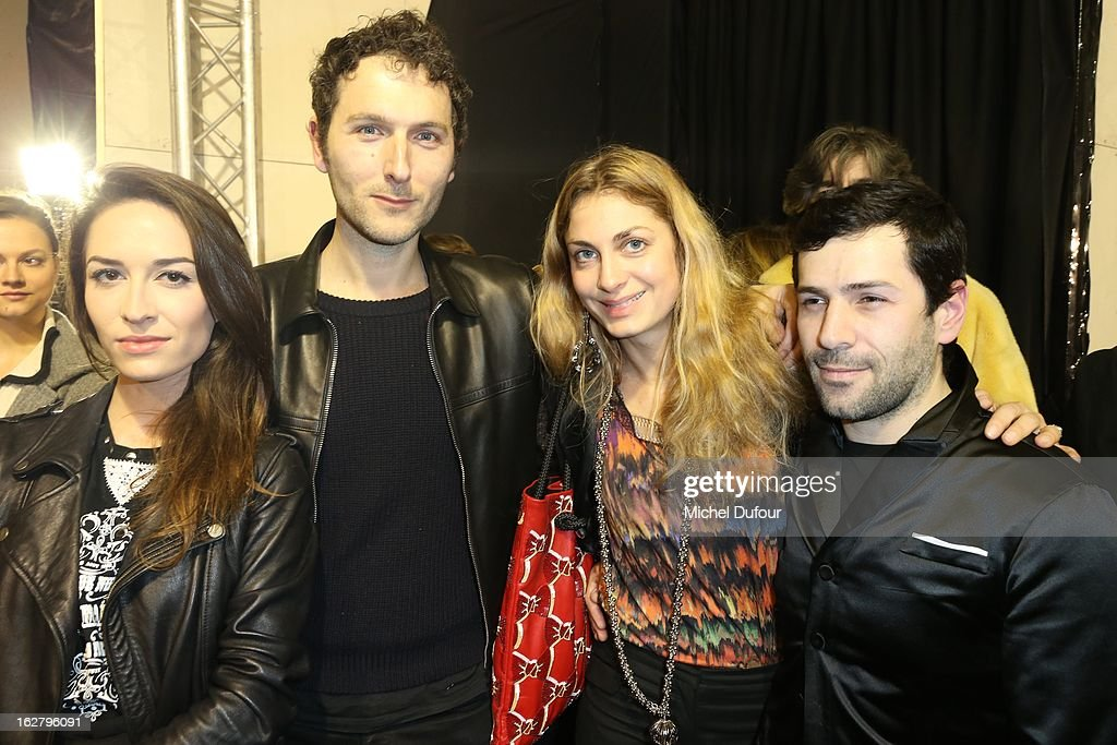 Simon Buret, Laure de Clermont Tonnerre and Alexis Mabille attend the Alexis Mabille Fall/Winter 2013 Ready-to-Wear show as part of Paris Fashion Week on February 27, 2013 in Paris, France.