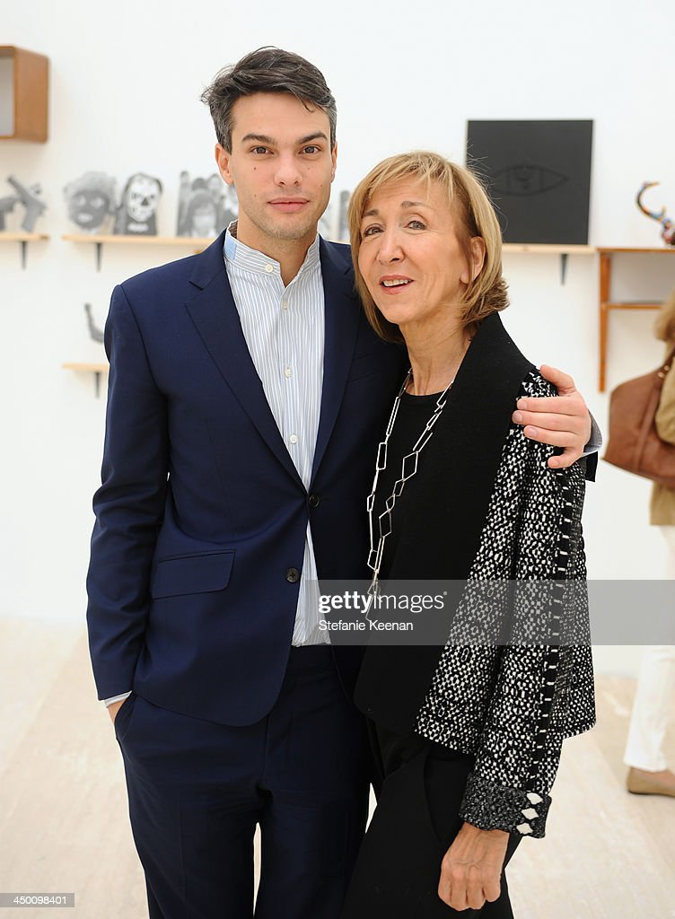 Simon Castets and Patricia Marshall attend a private preview at Museo Jumex on November 16, 2013 in Mexico City, Mexico.