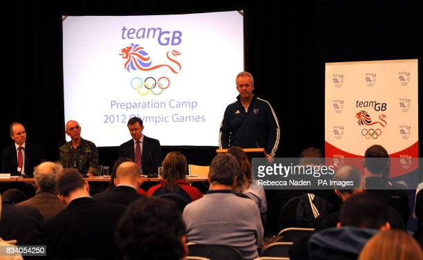 Simon Clegg BOA Chief Executive announces that The British Olympic Association has chosen Aldershot to host Team GB's London 2012 PreOlympic Games...