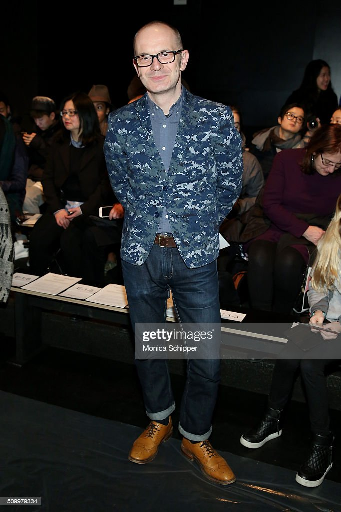 Simon Collins attends Taoray Wang fashion show during Fall 2016 New York Fashion Week: The Shows at The Dock, Skylight at Moynihan Station on February 13, 2016 in New York City.