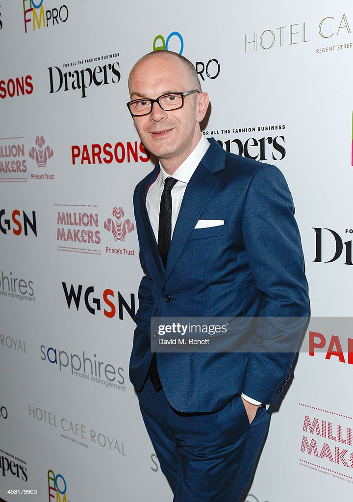 Simon Collins attends the VIP charity event, which Drapers and WGSN Group, partnered with Parsons The New School for Design and the British Fashion Council to hold, in aid of the Prince's Trust Million Makers on August 4, 2014 in London, England. The event saw the launch the acclaimed book 'The School of Fashion: 30 Parsons Designers' by Simon Collins, Dean of Fashion at Parsons. The richly-illustrated volume explores the legacy of Parsons through the testimony of its brightest alumni, with interviews and sketches from Donna Karan, Alexander Wang, Jack McCullough and Lazaro Hernandez of Proenza Schouler, and many others.