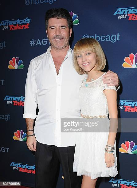 Simon Cowell and America's Got Talent winner Grace VanderWaal arrive at 'America's Got Talent' Season 11 Finale Live Show at Dolby Theatre on...