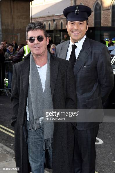 Simon Cowell and David Walliams attend the London Auditions of Britain's Got Talent at Hammersmith Apollo on February 11 2014 in London England