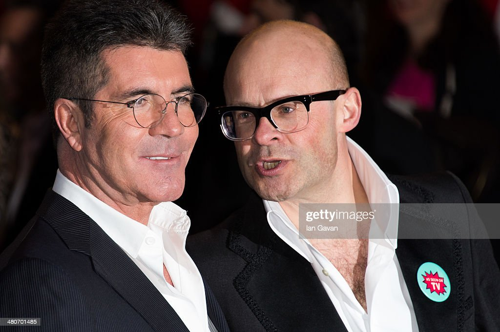 <a gi-track='captionPersonalityLinkClicked' href=/galleries/search?phrase=Simon+Cowell&family=editorial&specificpeople=203007 ng-click='$event.stopPropagation()'>Simon Cowell</a> and <a gi-track='captionPersonalityLinkClicked' href=/galleries/search?phrase=Harry+Hill&family=editorial&specificpeople=228845 ng-click='$event.stopPropagation()'>Harry Hill</a> attend the press night of 'I Can't Sing! The X Factor Musical' at London Palladium on March 26, 2014 in London, England.