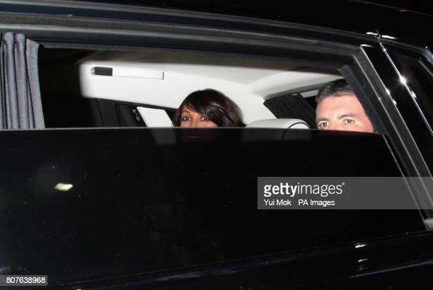 Simon Cowell and Jackie St Clair leaving Britain's Got Talent after the live semifinal show at The Fountain Studios in Wembley north London