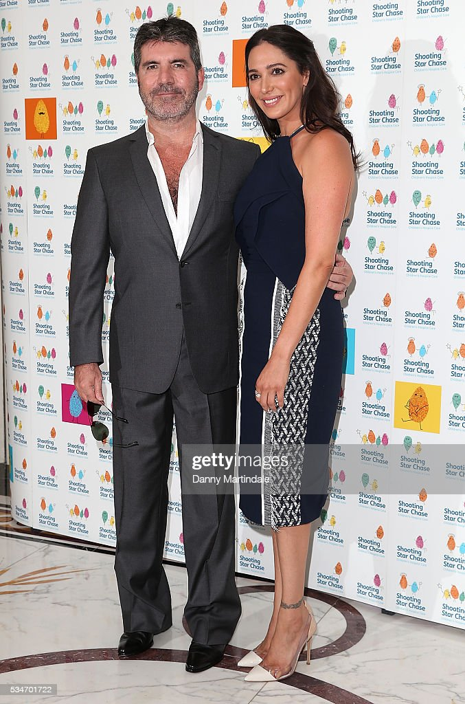 Simon Cowell and Lauren Silverman arrives for Star Chase Children's Hospice Event at The Dorchester on May 27, 2016 in London, England.